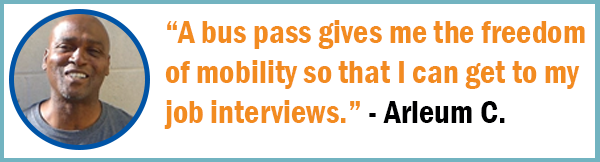 A bus pass gives me the freedom of mobility so that I can get to my job interviews